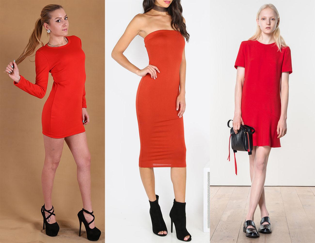 7c115278b11 Чёрная обувь с красным платьем