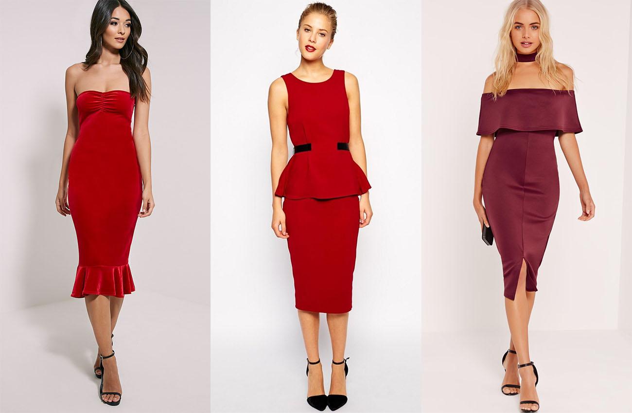 1cd9f90f30f Красное платье с чёрной обувью