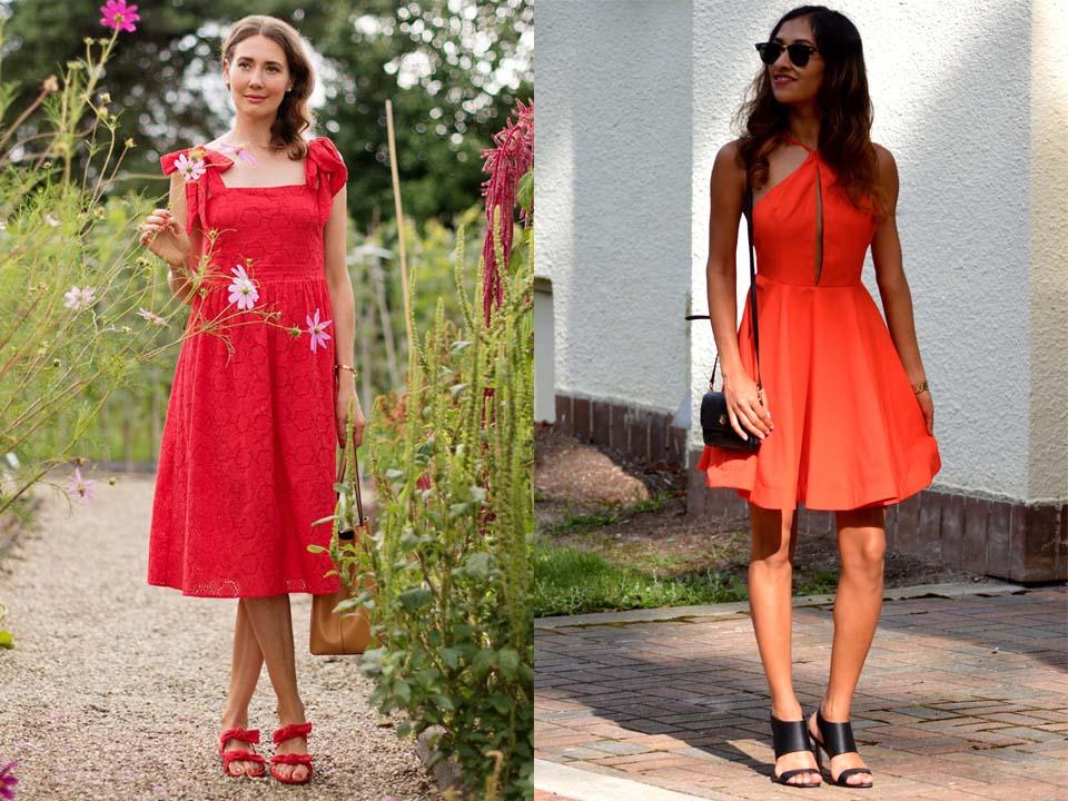 Красное платье летом