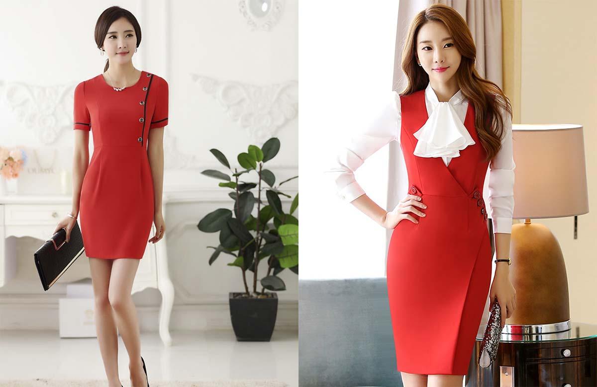 Клатч с красным платьем