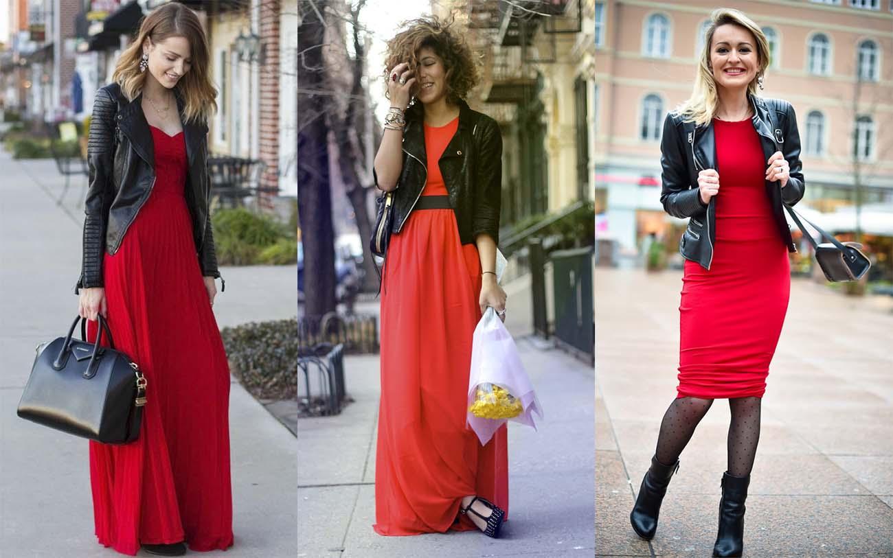 f695519112d Красное платье с короткой курткой