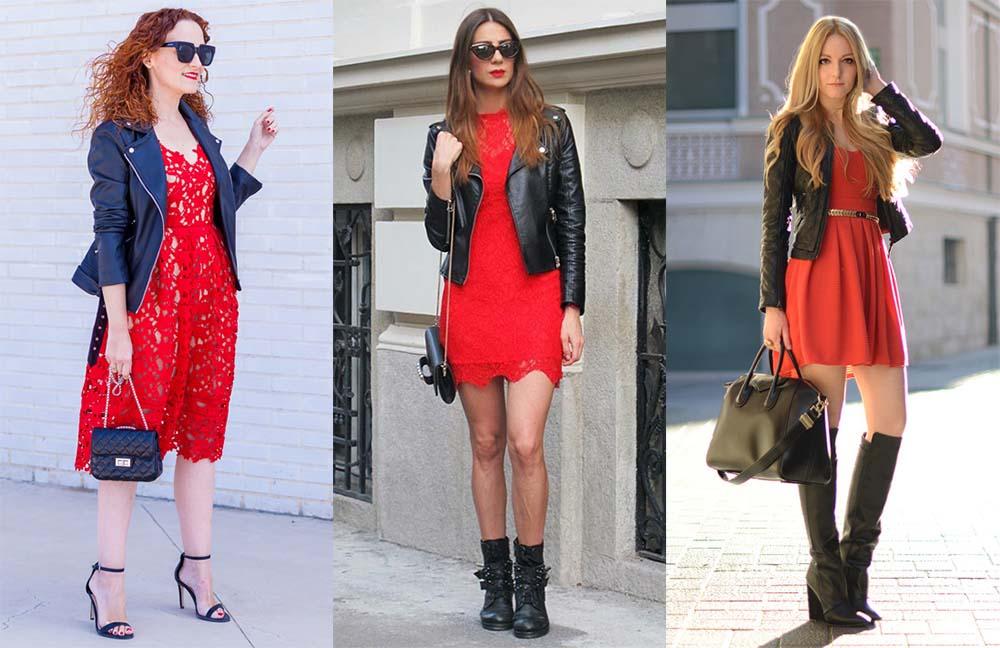 Красное платье с курткой