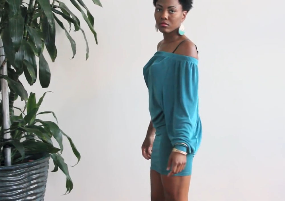Платье из широких трикотажных брюк на резинке фото 3