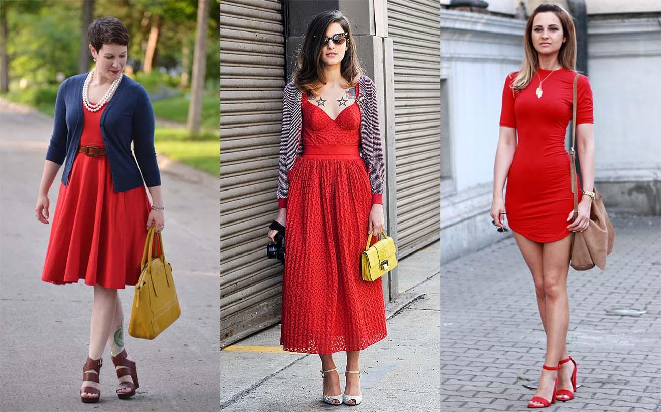 Сумка под красное платье