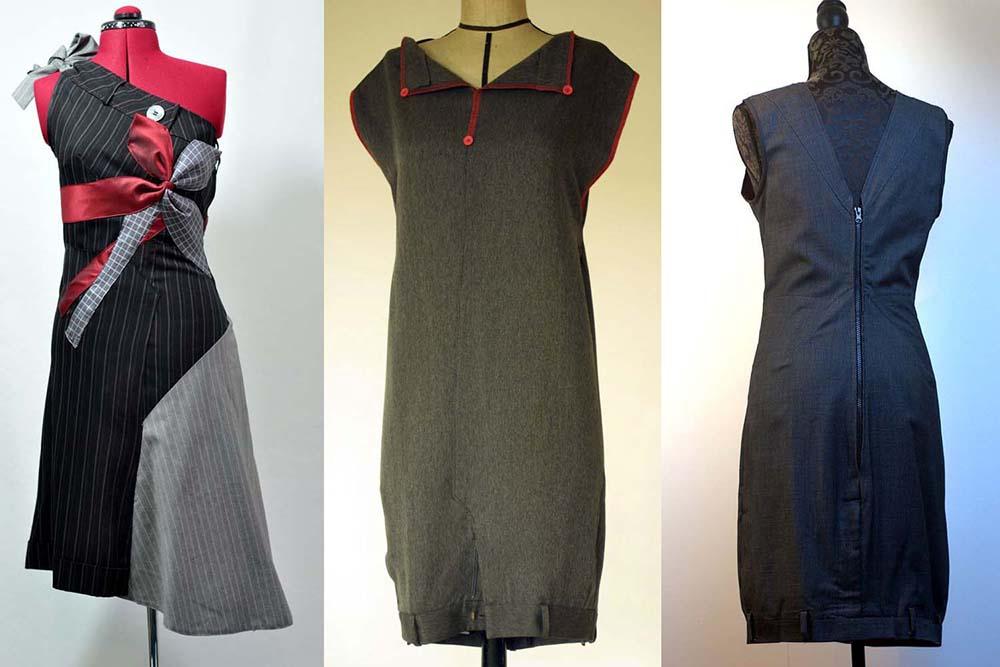 Платье из брюк фото 8