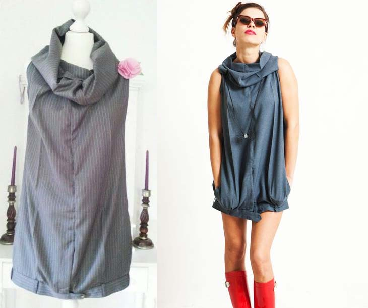 Платье из брюк фото 6