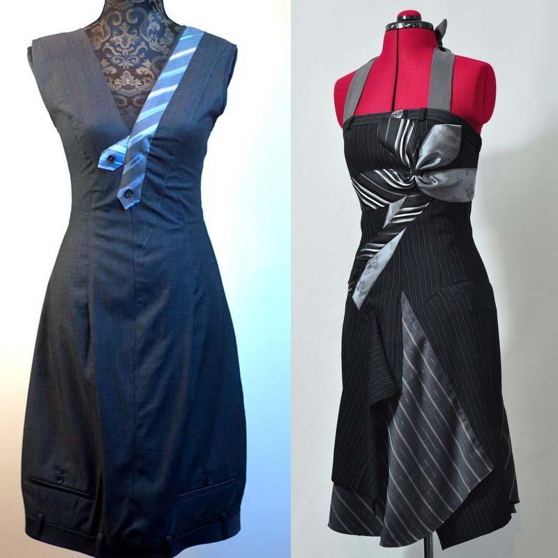 Платье из брюк фото 7