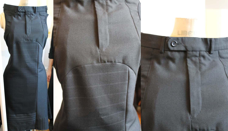 Как сшит пояс на брюках