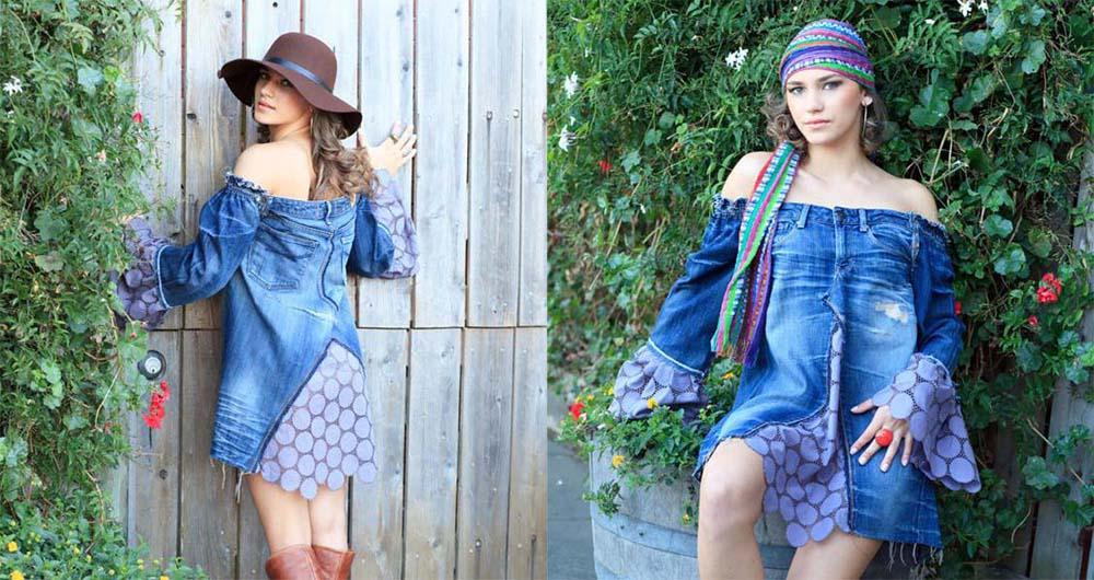 Платье из джинсов фото 9