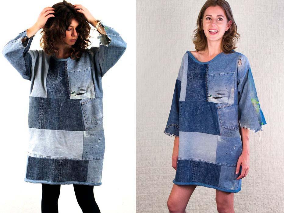 Платье из джинсов фото 6