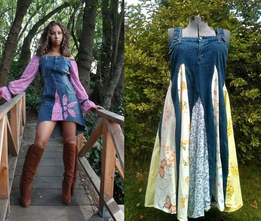 Платье из джинсов фото 8