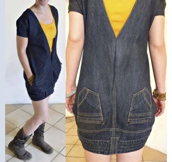 Сарафан из джинсов своими руками