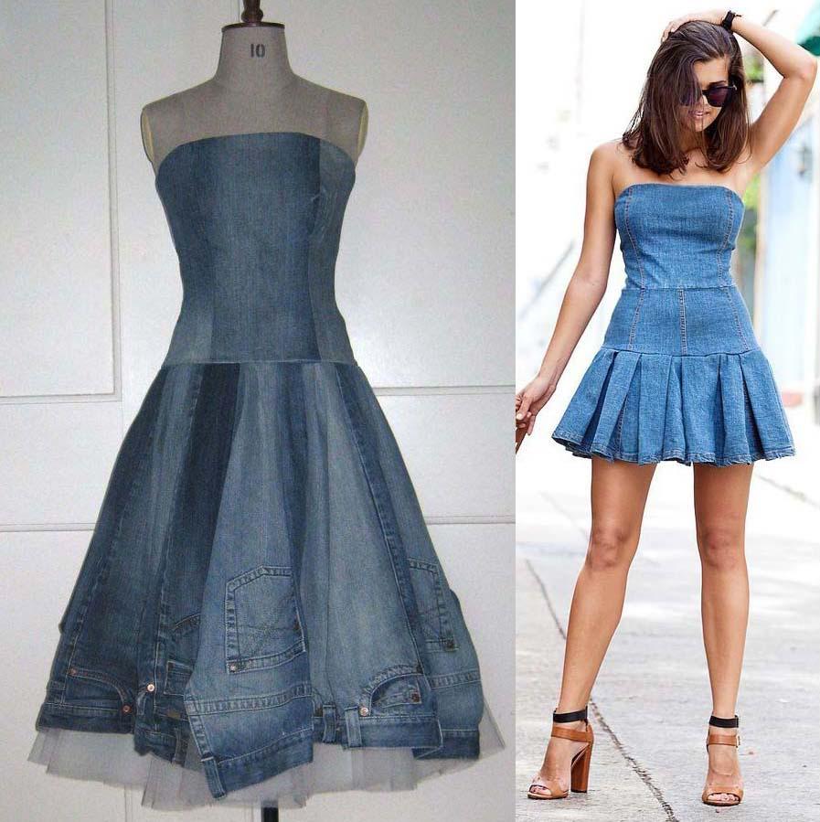 Платье из джинсов фото 15
