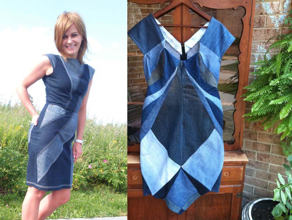Как сшить платье своими руками из джинсовой ткани 229