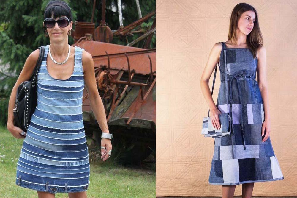 Как сшить платье своими руками из джинсовой ткани 564