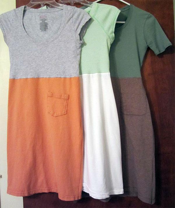 Платья сшитые из двух футболок