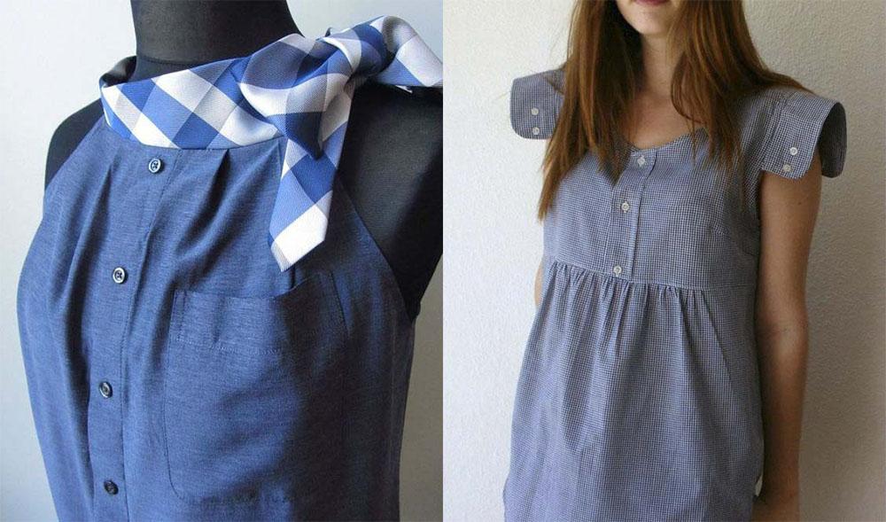 Фото как сделать платье из рубашки