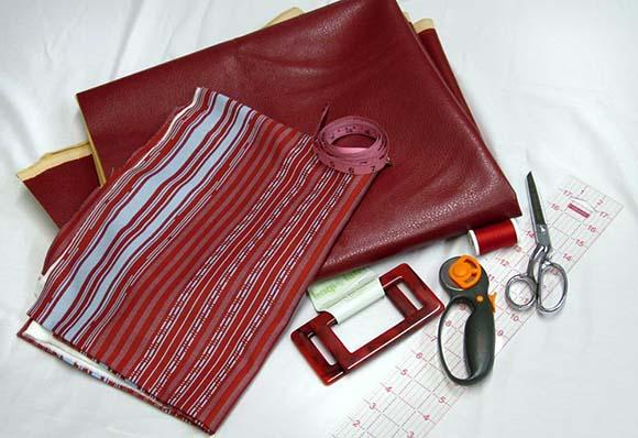 Материалы и инструменты для пошива сумки