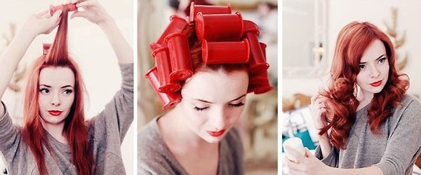 Накручивание волос на бигуди