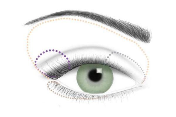 Схема дневного макияжа для зеленых глаз