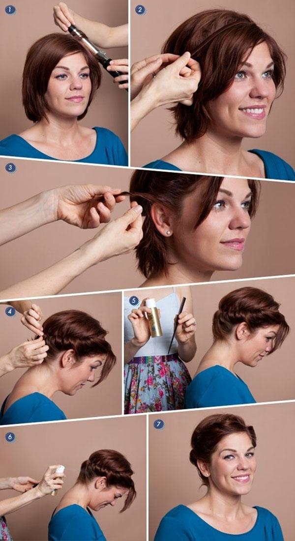Как завить короткие волосы в домашних условиях 414