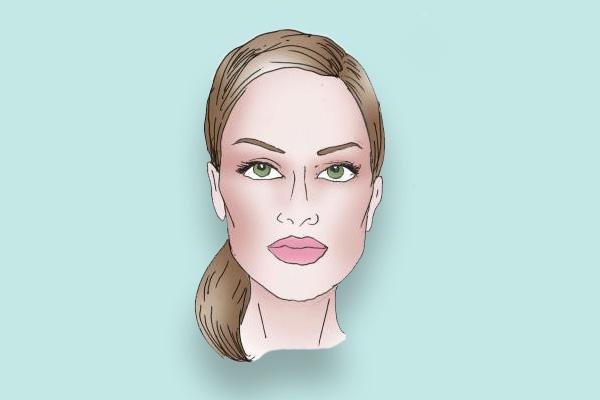 Макияж, прическа, аксессуары для прямоугольной формы лица.