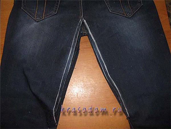 Как починить протертые между ног джинсы  Лучший блог рунета