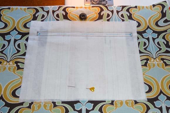 Пошив сумки из ткани: карман на молнии шаг 2