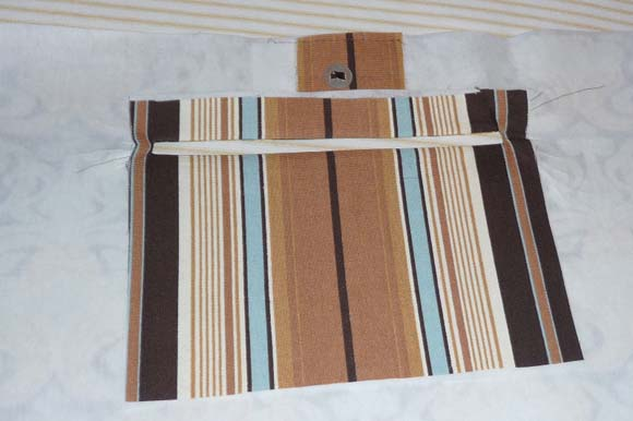 Пошив сумки из ткани: карман на молнии шаг 5