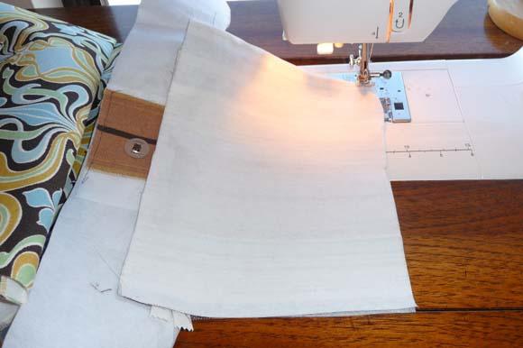 Пошив сумки из ткани: карман на молнии шаг 7