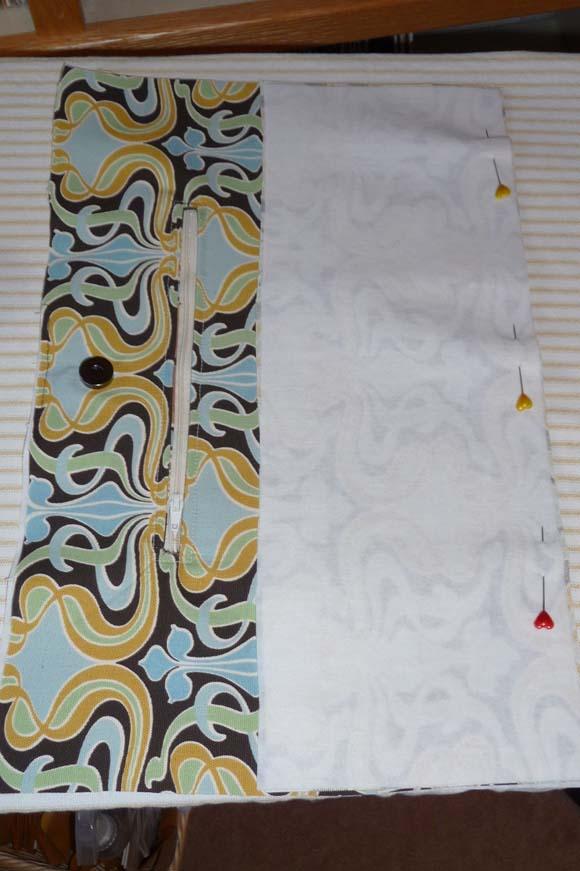 Пошив сумки из ткани: сшивание деталей шаг 1