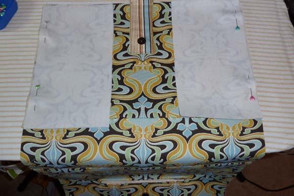 Пошив сумки из ткани: сшивание деталей шаг 3