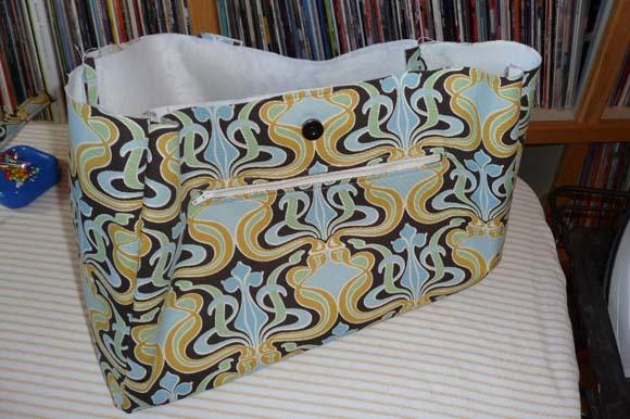 Пошив сумки из ткани: сшивание деталей шаг 5