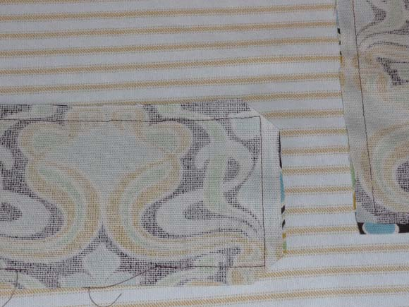Пошив сумки из ткани: карманы шаг 2
