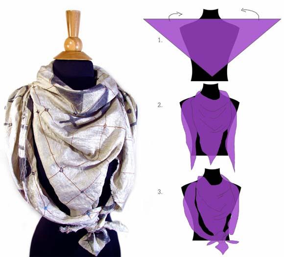 завязать платок треугольником
